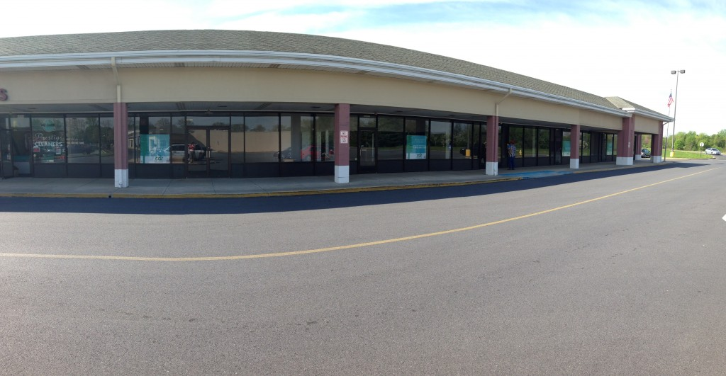 Above is a picture of 5 empty storefronts in the Giant shopping center. This is just one corner. In total there is over a dozen vacancies.
