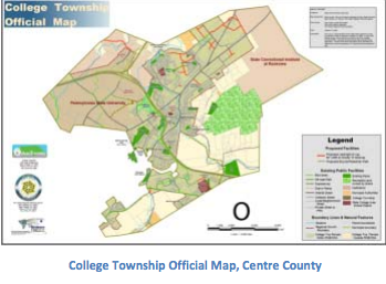 Designation of a Official Map allows a municipality the ability to delay development of a property for up to a year so the municipality can inquire about acquisition of the property for preservation or other public uses outlined by a comprehensive plan.