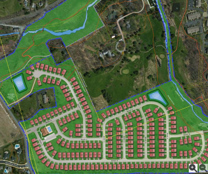 200+ units shoehorned on the old Indian Creek Golf Course
